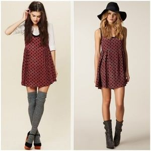 Free People Molly Dot Swing Dress